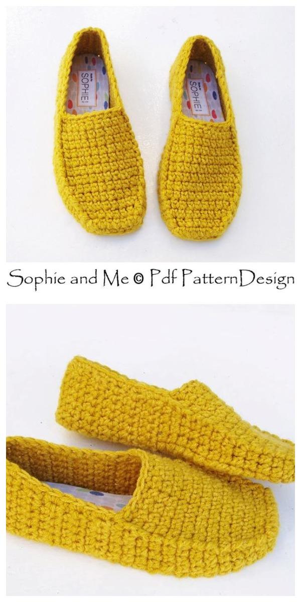 Crochet Easy Loafer Slippers