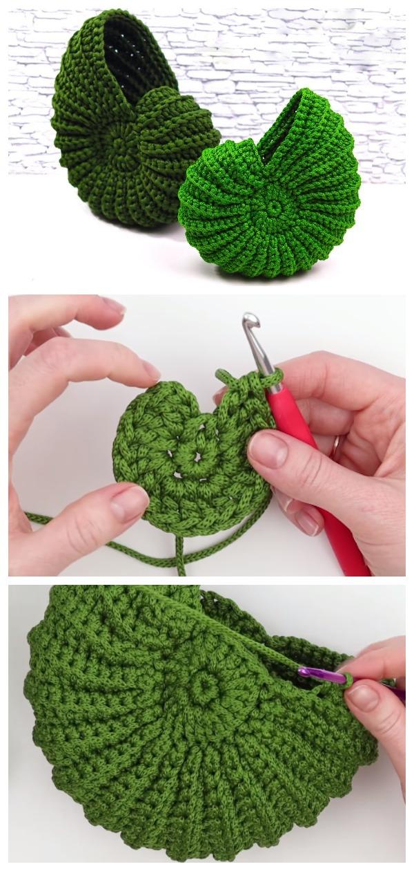 Crochet Shell Basket