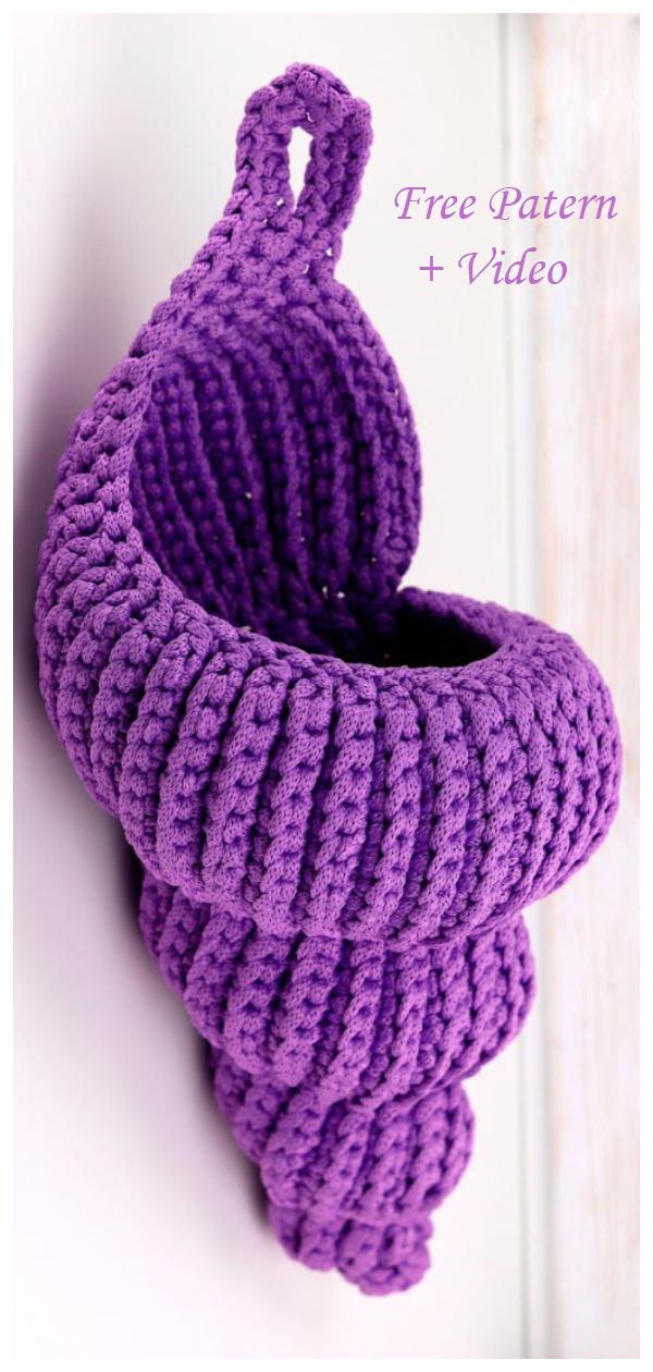 Crochet Spiral Shell