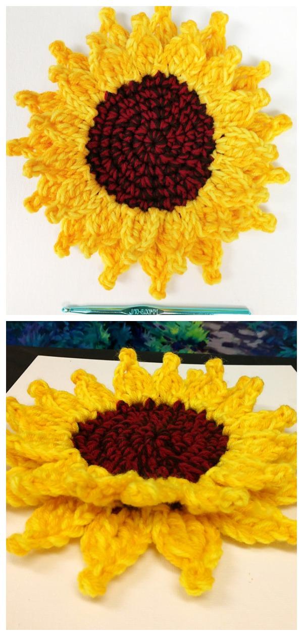 Crochet Sunflowers For Decoration