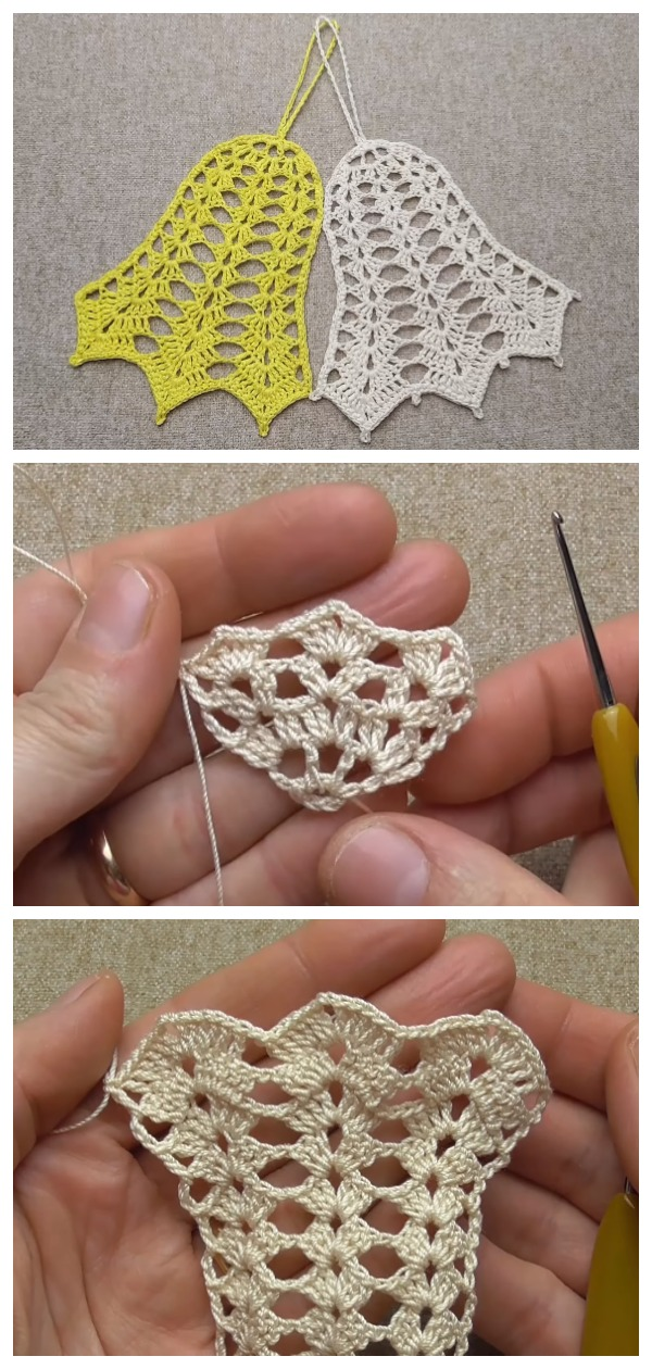 Crochet Christmas Flat Bell