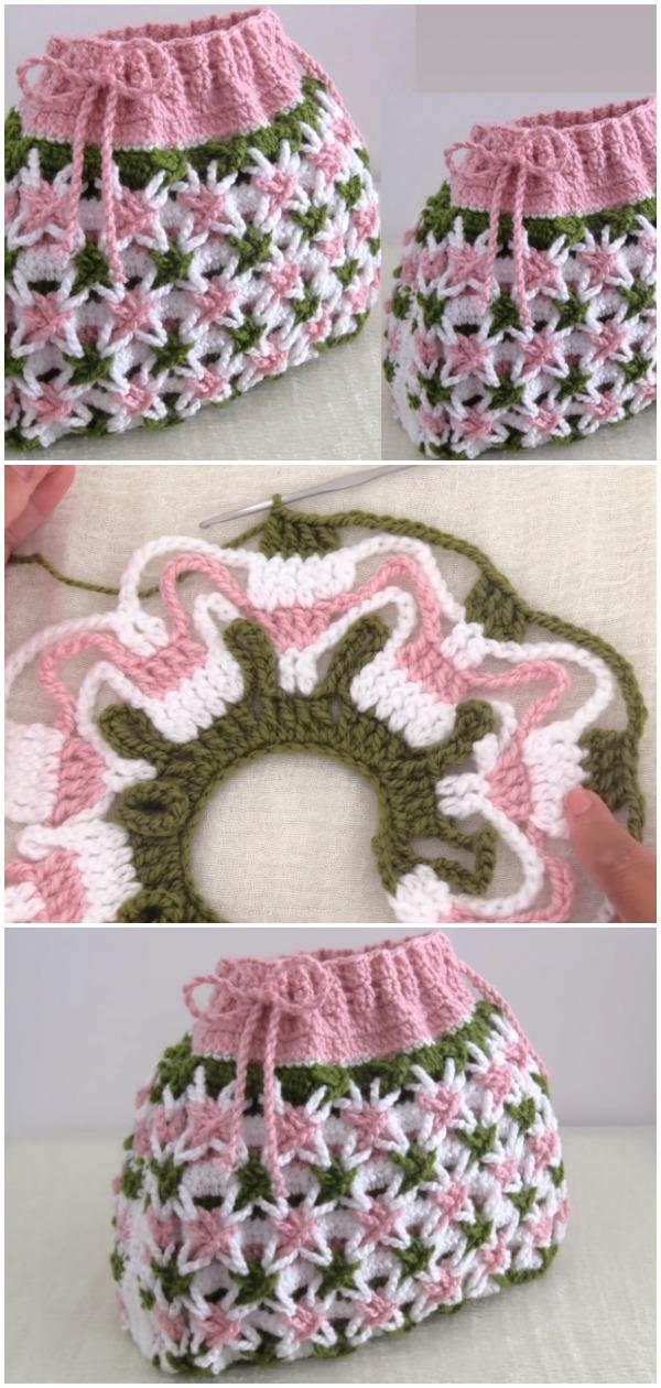 Crochet Bag Magic Star Stitch