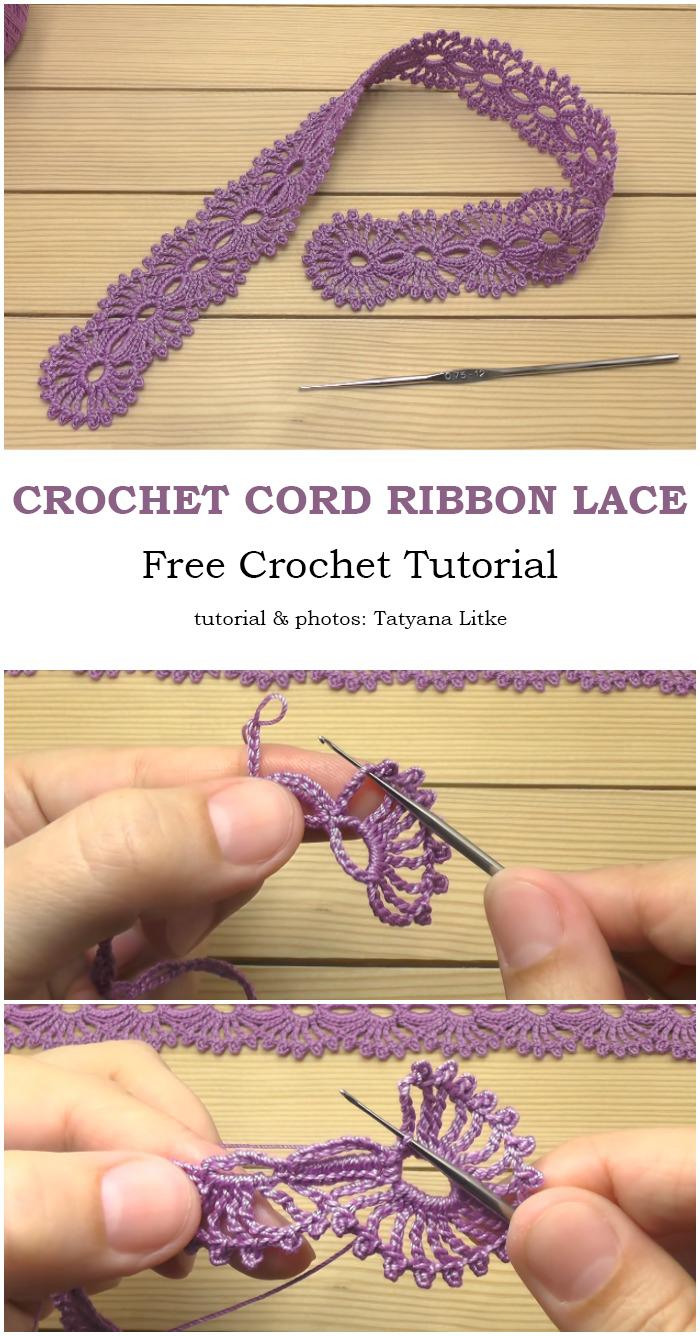 Crochet Cords Ribbon Lace